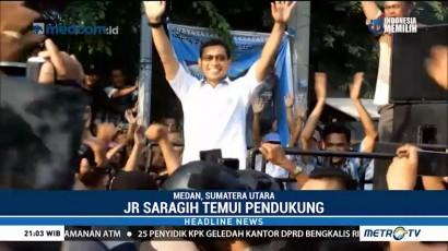JR Saragih Temui Pendukung Setelah Diperiksa Polisi