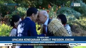 Jokowi Disambut Upacara Suku Maori di Selandia Baru