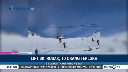 Lift Ski Tiba-tiba Rusak, Sejumlah Penumpang Terlempar