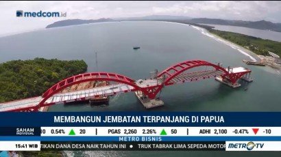 Pembangunan Jembatan Holtekamp Papua Terus Dikebut
