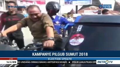 Edy Rahmayadi Keliling Kota dengan Becak Motor, Djarot Kunjungi Candi