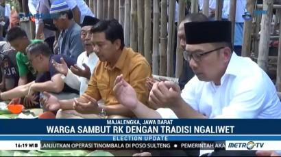 Ridwan Kamil Ngaliwet Bareng Warga di Majalengka