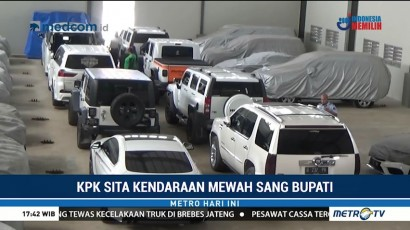 Kendaraan Mewah Bupati Hulu Sungai Tengah Disita KPK