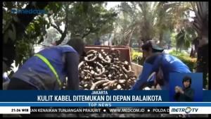 Limbah Kulit Kabel Kembali Ditemukan di Gorong-gorong Balai Kota DKI
