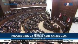 Erdogan Minta AS Bekerja Sama dengan NATO