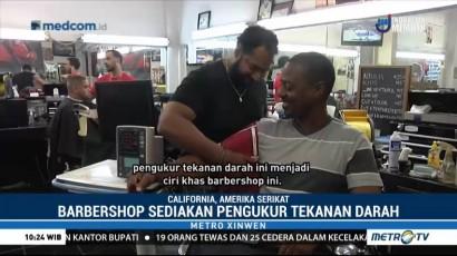 Unik, Barbershop Ini Sediakan Layanan Pemeriksaan Tekanan Darah