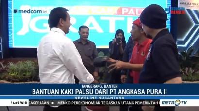 PT Angkasa Pura II dan Kick Andy Foundation Bagikan Kaki Palsu di Tangerang