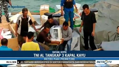 TNI Tangkap Tiga Kapal Kayu Pembawa Barang Ilegal