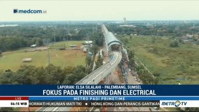 Pembangunan LRT di Palembang Capai 88 Persen