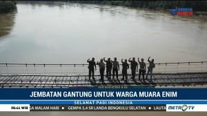 Perbaikan Selesai, Jembatan Gantung Muara Enim Bisa Dilalui