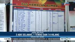 Kapal Tambang Pasir Terbalik di Malaysia, 14 Hilang