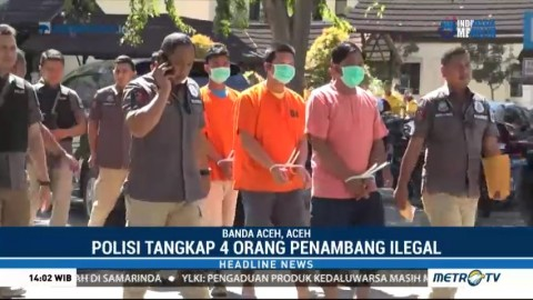 Polda Aceh Tangkap 4 Penambang Emas Ilegal