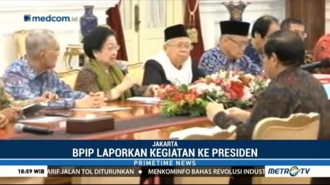 Megawati Laporkan Kegiatan BPIP ke Presiden