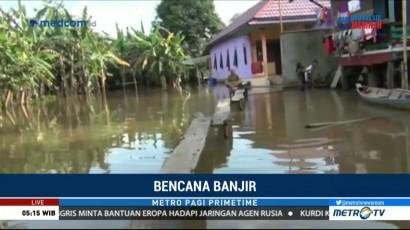 Hujan Deras Sebabkan Banjir di Musi Banyuasin