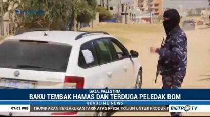 Kelompok Hamas Terlibat Baku Tembak dengan Pelaku Bom Konvoi PM Palestina