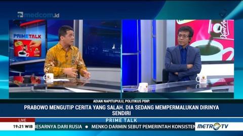Soal Pidato Indonesia Bubar, Adian: Prabowo Sedang Mempermalukan