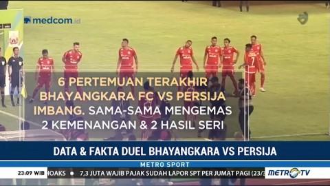 Data dan Fakta Duel Bhayangkara FC Vs Persija