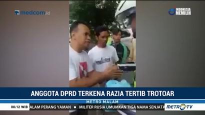 Anggota DPRD DKI Kena Razia Tertib Trotoar