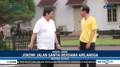 Olahraga Bersama, Jokowi-Airlangga Bahas Kriteria Cawapres
