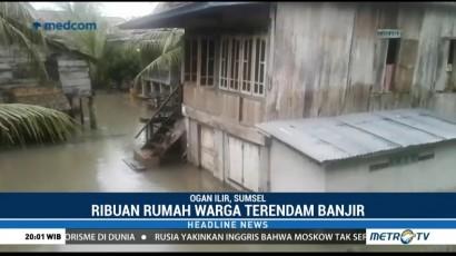 Sudah Sepekan, 12 Kecamatan di Ogan Ilir Masih Terendam Banjir