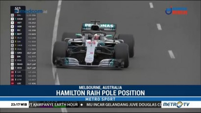 Lewis Hamilton Bertahan sebagai Raja Pole di Melbourne Park