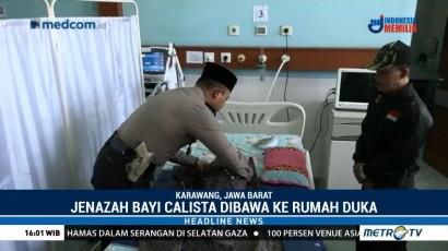 Jenazah Bayi Calista Dibawa ke Rumah Duka