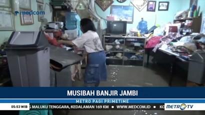 Puluhan Rumah di Jambi Terendam Banjir