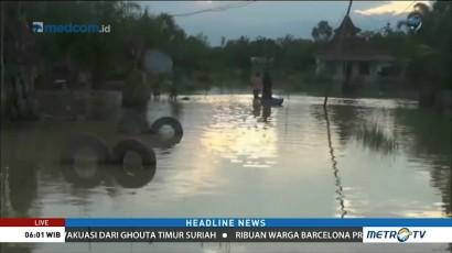 Banjir di Kabupaten Tulang Bawang Tak Kunjung Surut