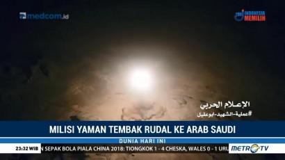 Pemberontak Yaman Tembakkan Rudal ke Arab Saudi, Satu Tewas dan Dua Luka