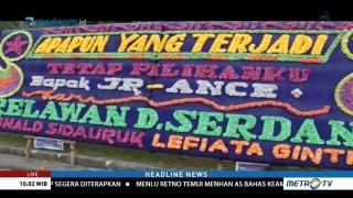 PTTUN Medan Dibanjiri Karangan Bunga untuk JR Saragih