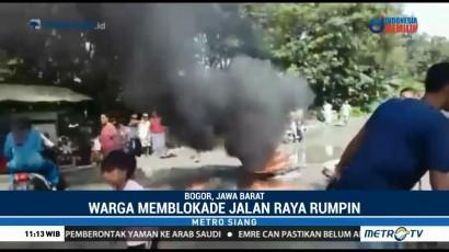 Warga Bogor Blokade Jalan Rumpin