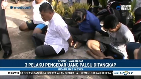 Tiga Pelaku Pengedar Uang Palsu Senilai Rp6 M Dibekuk di Bogor
