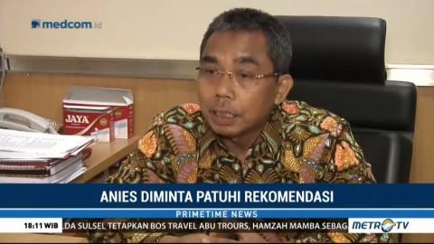 PDIP Minta Anies Patuhi Rekomendasi Ombudsman