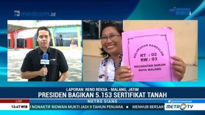 Jokowi akan Bagikan 5.153 Sertifikat Tanah di Malang