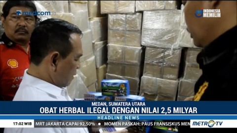 BPOM Gerebek Gudang Obat Herbal Ilegal di Medan