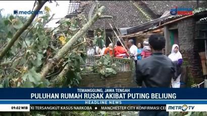 Puluhan Rumah di Temanggung Rusak Diterjang Puting Beliung