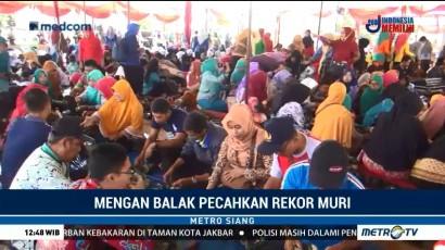 Mengan Balak di Kabupaten Pringsewu Pecahkan Rekor MURI