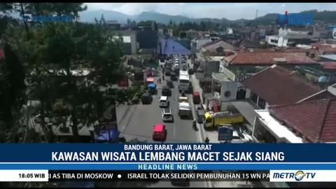 Kawasan Wisata Lembang Macet Hingga 4 Km