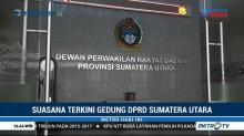 Suasana Gedung DPRD Sumut Pascapenetapan Tersangka Kasus Suap