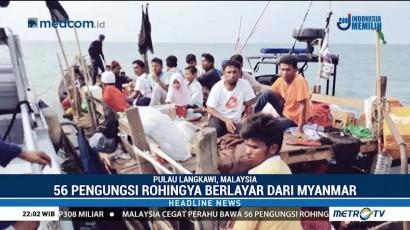 Malaysia Cegat Kapal Pengungsi Rohingya