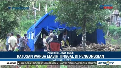 Ratusan Warga Korban Tanah Bergerak di Ponorogo Masih Tinggal di Pengungsian