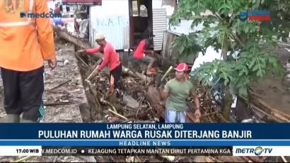 Banjir Bandang Terjang Lampung Selatan, Rumah di 10 Desa Rusak