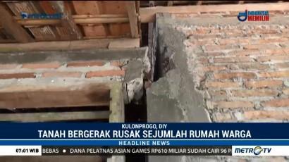 Sejumlah Rumah Rusak Akibat Tanah Bergerak di Kulon Progo