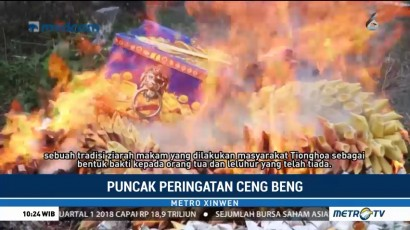 Puncak Peringatan Ceng Beng, Pemakaman Sentosa di Pangkal Pinang Ramai Peziarah