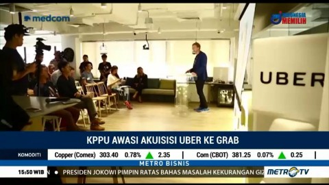 KPPU Awasi Akusisi Uber ke Grab