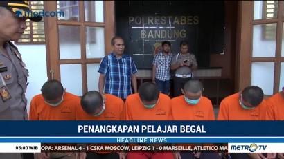 Polisi Tangkap Tujuh Pelajar Pelaku Begal di Bandung