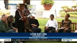 Sastrawan Asal Aceh Bacakan Puisi untuk Jokowi