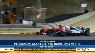 Persaingan Hamilton & Vettel di GP Bahrain