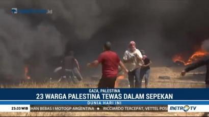 Korban Tewas dalam Aksi Unjuk Rasa di Gaza Jadi 23 Orang
