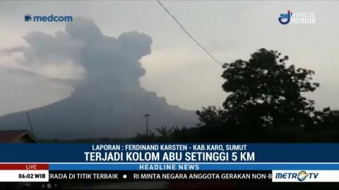 BNPB Imbau Warga Waspada Ancaman Lahar Dingin Sinabung